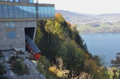 Neue Bahn führt zu neuem Hotel auf dem Bürgenstock. (Bild: Regula Aeppli)