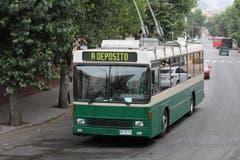 Dieser Bus hat Feierabend. Er fährt ins Depot. (Bild: Samuel Fuentes, Valparaiso)