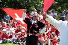 Zutritt zur Feier hat nur, wer sich angemeldet hat. Organisiert wird der Anlass von der Schweizerischen Gemeinnützigen Gesellschaft (SGG), die das Rütli verwaltet. (Bild: Dominik Wunderli / Neue LZ)