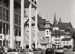 Sursee - Blick von der Centralstrasse auf die Altstadt Sursee von 2002. (Bild: Bruno Meier)