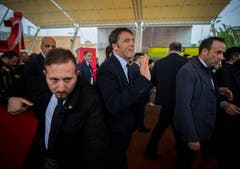 Der italienische Premierminister Matteo Renzi beim Besuch der Expo Milano am Freitag. (Bild: SAMUEL GOLAY)