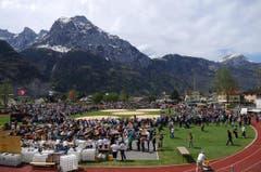 Die Arena am Kantonalschwingfest. (Bild: Urs Hanhart / Neue UZ)