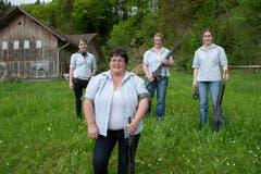 Die Familie Rössli vlnr: Ramona, Elsbeth, Barbara, Sandra. (Bild: Dominik Wunderli (Neue LZ))