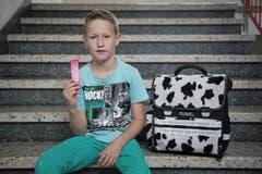 Silvan Aregger (8): «Schade, dass die Ferien vorbei sind.» (Bild: Pius Amrein (Neue LZ))