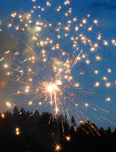 1. August - Feuerwerk in Wolhusen! (Bild: Josef Lustenberger)