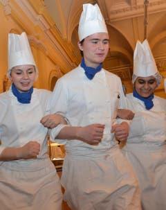 Tess Henn, Sriparna Saha und Lars Petter Sulkkan. (Bild: Claudia Surek)