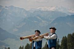 Auf dem Bild zu sehen sind zwei Büchel-Spieler des Quartett der ABV Luzern. (Bild: Pius Amrein (Neue LZ))