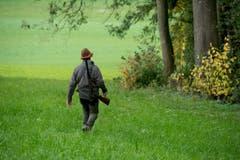 Jagd im Wald bei Römerswil. (Bild: Dominik Wunderli / Neue LZ)