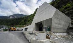 28. Mai 2014: Südportal der Multifunktionsstelle in Faido. (Bild: Keystone)