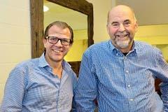 Hünenberg: Georges Helfenstein (links) und Alois Bucher. (Bild: Claudia Surekt)