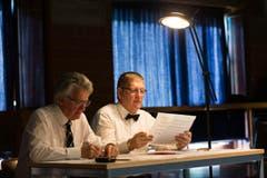 Die Experten bewerten den Auftritt der Chöre. (Bild: Roger Zbinden (Neue NZ))
