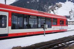Ein Zug der Matterhorn Gotthard Bahn im Bahnhof Andermatt. (Bild: Bruno Ringgenberg)