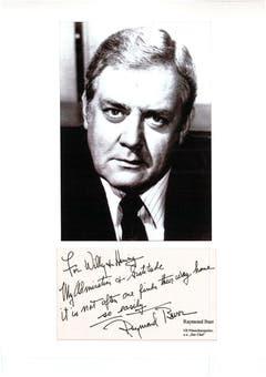 ... oder Schauspieler Raymond Burr. (Bild: Aus dem Archiv von Hanny Buholzer)