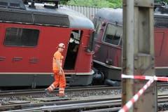 An den Gleisanlagen entstanden erhebliche Schäden. (Bild: Urs Hanhart (Neue UZ))