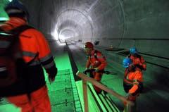 Der Tunnel ist zu einem grossen Teil fertig betoniert. (Bild: Urs Hanhart/Neue UZ)