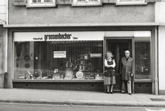 Sursee - Grossenbacher, Haushaltwaren und Glas, Unterstadt Sursee, von ca. 1983. (Bild: Bruno Meier)