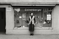 Sursee - Herrenhutgeschäft Eichenberger, Unterstadt Sursee, 1986. (Bild: Bruno Meier)