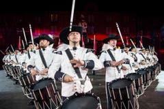 Das «Top Secret Drum Corps» feiert sein 25-jähriges Bestehen. (Bild: Keystone / Patrick Staub)