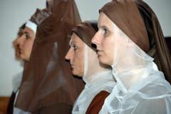 Die Schwestern in der Kirche: (Bild: Romano Cuonz)