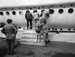 Das U-Boot «Mésoscaphe» steht seit 2005 im Verkehrshaus der Schweiz in Luzern. 1964 an der Expo in Lausanne war es eine der Hauptattraktionen. (Bild: Keystone / Str)