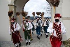 Die Tiroler in Rothenthurm. (Bild: Bote der Urschweiz)