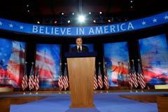 """""""Das ist eine Zeit grosser Herausforderungen für Amerika, und ich bete, dass der Präsident Erfolg haben wird, unsere Nation zu führen"""", sagte Mitt Romney nach seiner Niederlage. (Bild: Keystone)"""
