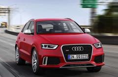 Audi Q3 RS: Auch optisch macht Audis kompakter SUV Q3 RS keinen Hehl aus seiner Sportlichkeit. 310 PS lassen ihn in nur 5,5 s von 0 auf 100 km/h sprinten. (Bild: PD)