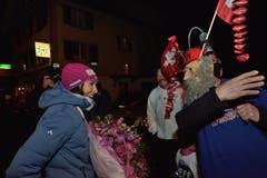 Wendy trifft Fasnacht: Ein als Fan maskierter Fan trifft sein Idol. (Bild: Nadia Schärli/LZ)