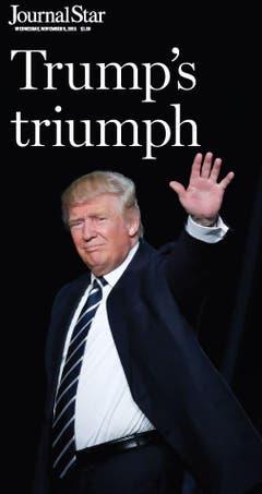 """Die amerikanische Zeitung """"Journal Star"""". (Bild: Printscreen)"""