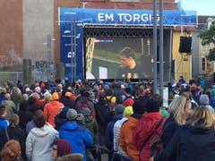 Der EM-Viertelfinal zwischen Deutschland und Italien zog auch die Menschen in Island in seinen Bann. (Bild: Marion Loher)