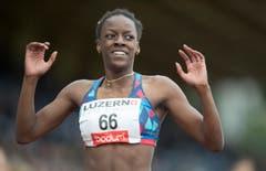 Yasmin Giger von Amriswil-Athletics gewinnt über 400 Meter den nationalen Wettkampf. (Bild: Keystone / Urs Flüeler)