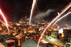 Feuerwerk über Zermatt. (Bild: Keystone)