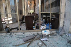 Das zerstörte türkische Parlament in Ankara. (Bild: AP Photo/Burhan Ozbilici)
