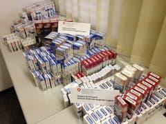 Die beschlagnahmten Zigaretten. (Bild: Eidgenössische Zollverwaltung)