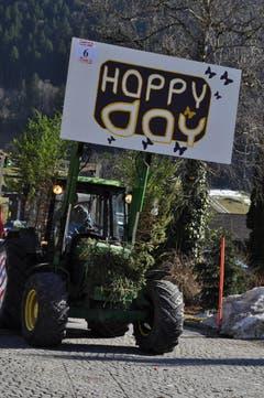 Einen Happy Day hatten nicht nur die Fasnächtler, sondern auch die Schaulustigen. (Bild: Birgit Scheidegger (OZ))