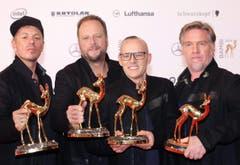 Im Bereich der deutschen Musik wurden die Fantastischen Vier ausgezeichnet. (Bild: Keystone)