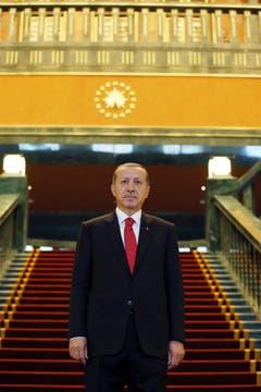 Erdogan will den Palast nach den Feierlichkeiten des Tags der Republik beziehen. (Bild: KEYSTONE)