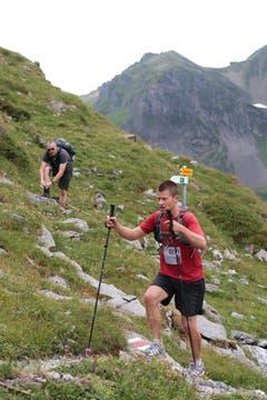 Der 6. Mountainman 2015 fotografiert auf der Melchsee-Frutt bei Obwalden am 25.07.2015. (Bild: Roger Zbinden (Neue LZ))