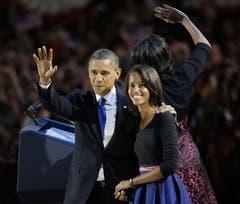 Präsident Barack Obama mit Frau Michelle (Bild: Keystone)