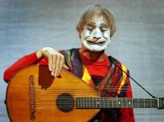 Dimitri, aufgenommen am Donnerstag, 20. November 2003, im Theater am Hechtplatz mit seinem Stück «Ritratto». (Bild: Keystone / Eddy Risch)