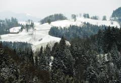Verschneite Landschaft bei Sitzberg. (Bild: Keystone)