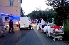 Die Rettungskräfte in Amatrice im Einsatz. (Bild: EPA / Luca Prosperi)