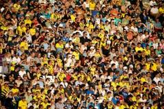 12'258 Zuschauer kamen in die Swissporarena, darunter viele Fans von Borussia Dortmund. (Bild: Philipp Schmidli)