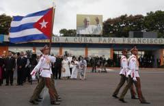 Kubanische Soldaten beim Papstbesuch. (Bild: Keystone)