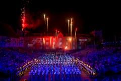Blick auf das Bühnenbild bei der Kaserne in Basel. (Bild: Keystone / Patrick Staub)