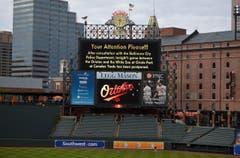 Das Baseball-Spiel zwischen den Baltimore Orioles und den Chicago White Sox findet nicht statt. (Bild: AP / Nick Wass)