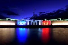 Das Australische Parlament in Camberra. (Bild: EPA/LUKAS COCH)