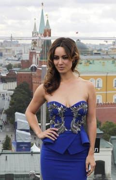 James Bonds Bettgirl Berenice Marlohe, hier bei einem Foto-Shooting in Moskau... (Bild: Keystone)