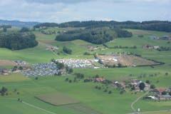 Das Gelände aus Grosswangen aus der Luft. (Bild: PD)
