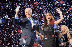 Auch bei Vizepräsident Joe Biden und seiner Tochter Ashley. (Bild: Keystone)